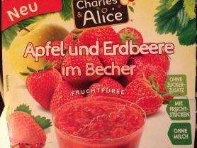 Apfel und Erdbeere im Becher, Apfel und Erdbeere   Hochgeladen von: LuckyLuna