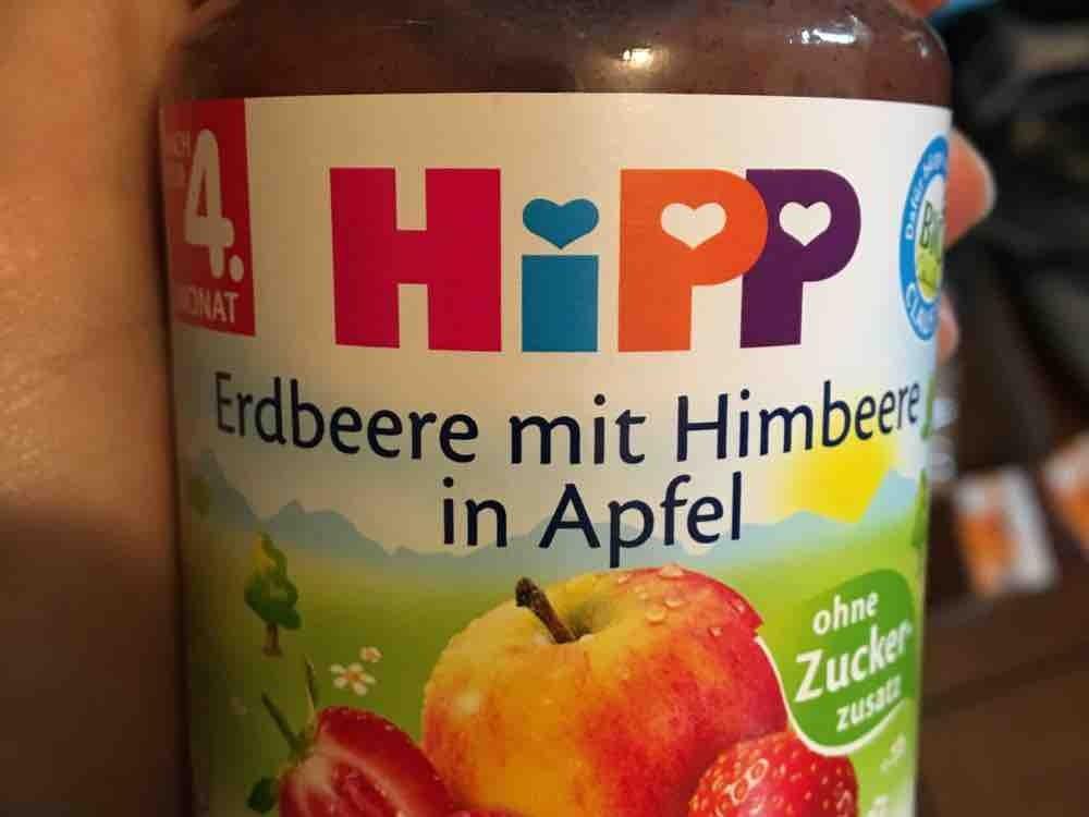 Erdbeere mit Himbeere in Apfel, ohne Zuckerzusatz ,190g von carlottasimon286 | Hochgeladen von: carlottasimon286