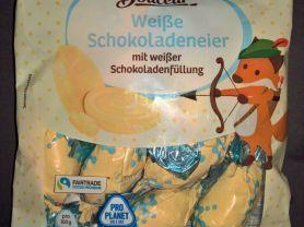 Weiße Schokoladeneier, mit weißer Schokoladenfüllung | Hochgeladen von: wertzui
