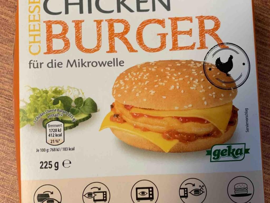 Chicken Cheeseburger , für die Mikrowelle  von Fettmann | Hochgeladen von: Fettmann