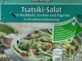 Ofterdinger Tsasiki-Salat, mit Weißkohl, Gurken und Paprika  | Hochgeladen von: rappelkiste