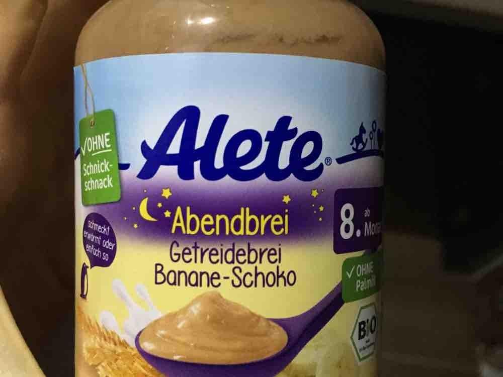 Alete Abendbrei Getreidebrei , Banane Schoko  von alexandra.habermeier   Hochgeladen von: alexandra.habermeier
