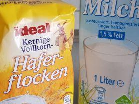 Selbst Gemacht Haferflocken Milch Suppe Süß Kalorien Milch
