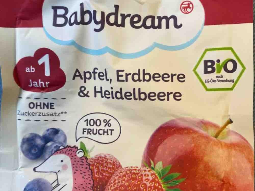 Babydream Bio Fruchtpüree, Apfel, Erdbeere, Heidelbeere von josie091   Hochgeladen von: josie091