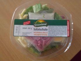 Salatschale mit Schinken, Käse, Ei und Joghurt Dressing | Hochgeladen von: Eng3lch3n