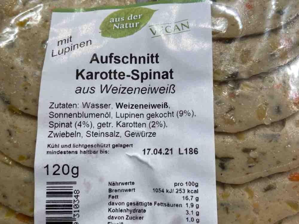 Aufschnitt Karotte-Spinat, herzhaft von Dorolu   Hochgeladen von: Dorolu