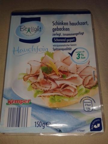 Be light Schinken hauchzart gebacken  | Hochgeladen von: Kaeferle