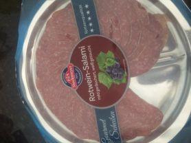 Rotwein-Salami, mild gerächert und weiß getaucht   Hochgeladen von: krm