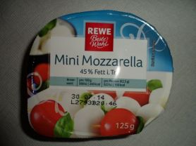 Mini Mozzarella (45% Fett i.Tr.) | Hochgeladen von: Alare