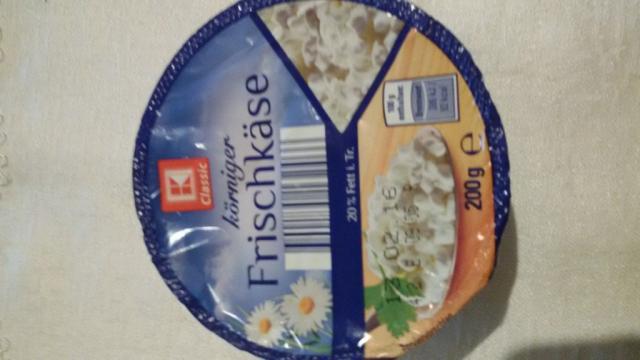 körniger Frischkäse, natur, 20% Fett i.Tr. | Hochgeladen von: jana74