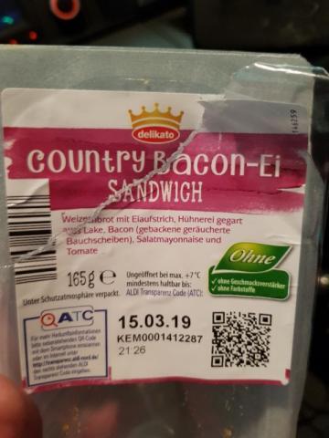 Sandwich, Country Bacon-Ei von stelan700   Hochgeladen von: stelan700