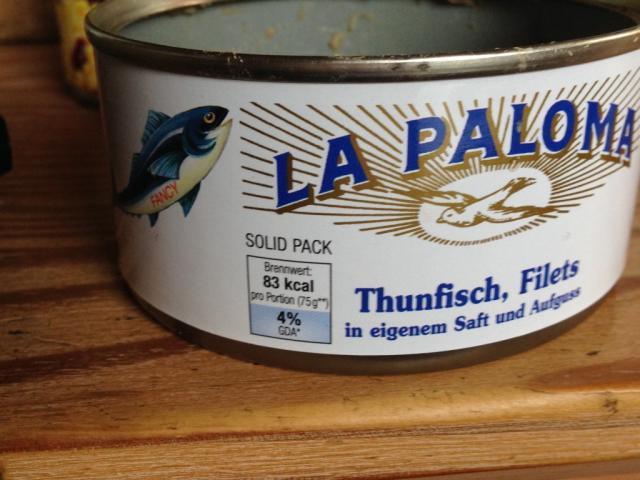 Thunfisch in eigenem Saft und Aufguss (La Paloma) | Hochgeladen von: mk130571