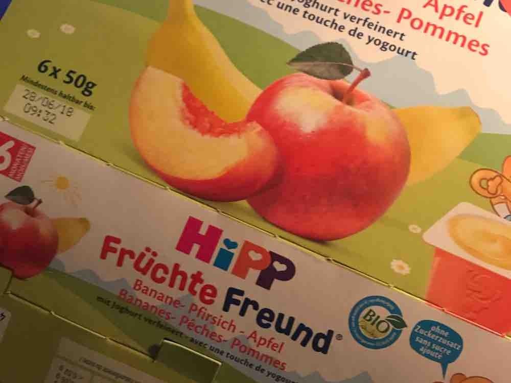 HiPP Früchte Freund, Banane-Pfirsich in Apfel mit entrahmtem Joghurt  von uhuschaer249 | Hochgeladen von: uhuschaer249