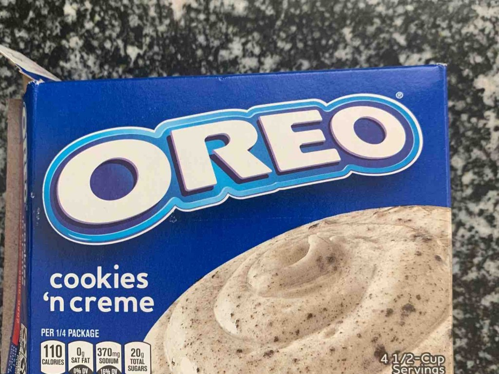 Oreo Instant Pudding, cookies