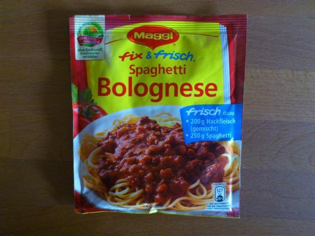 Maggi Spaghetti Bolognese trockenprodukt   Hochgeladen von: jn79
