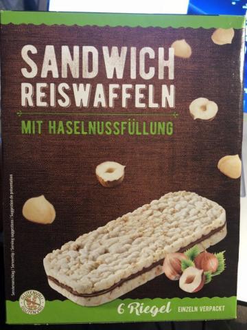 Sandwich Reiswaffeln, Haselnuss | Hochgeladen von: mdreier