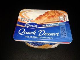 Quark-Dessert, Apfelstreusel | Hochgeladen von: Kaeferle