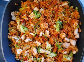 Reispfanne mit Hähnchenbrust   Hochgeladen von: frankwilfried