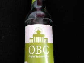 Cidre OBC Original Berliner Cidre Classic, Apfelcidre | Hochgeladen von: wanda.liesmus