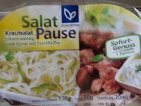 Salatpause, Gyros + pikanter Krautsalat + Tzatziki Dip | Hochgeladen von: Enomis62