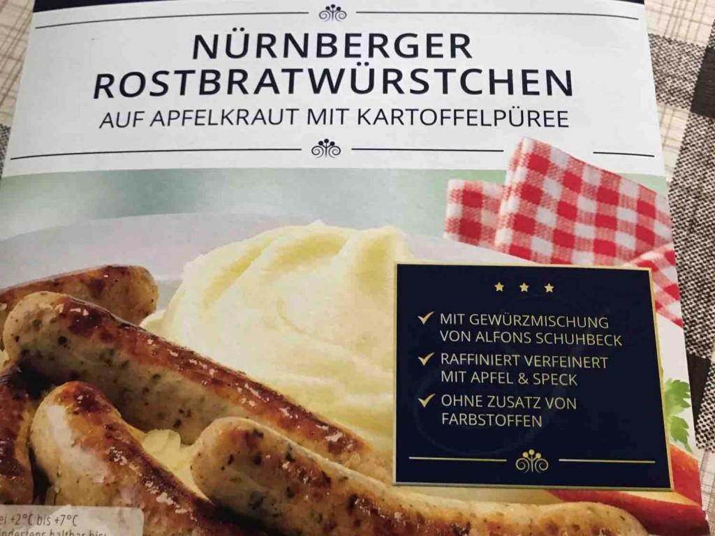 Nürnberger Rostbratwürstchen auf Apfelkraut mit Kartoffelpüree von Fettmann | Hochgeladen von: Fettmann