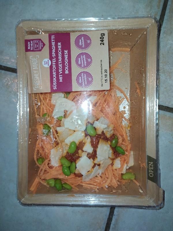 Süßkartoffel-Spaghetti mit vegetarischer Bolognese von Puzikate | Hochgeladen von: Puzikate