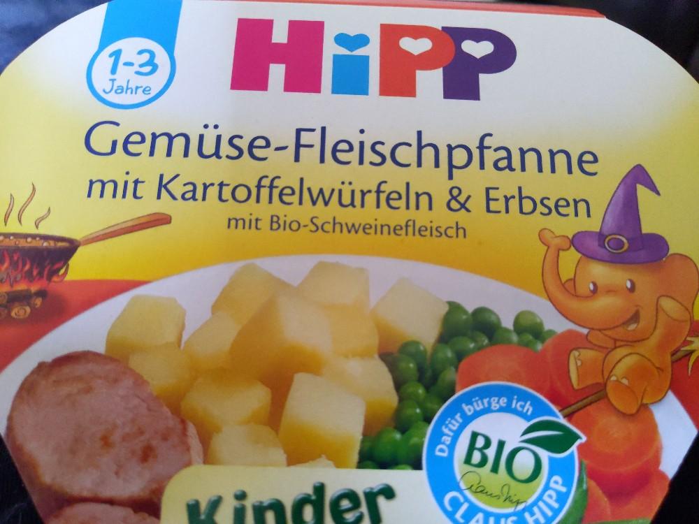 Gemüse-Fleischpfanne mit Kartoffelwürfeln & Erbsen, mit Bio-Schweinefleisch von lenilouise | Hochgeladen von: lenilouise