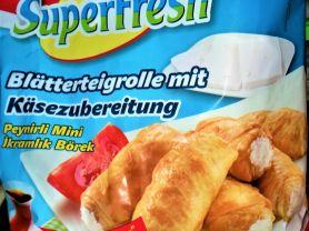 Blätterteigröllchen gefüllt, Käse   Hochgeladen von: Sabine34Berlin