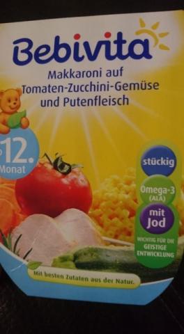 Bebivita Makkaroni auf Tomaten-Zucchini-Gemü   Hochgeladen von: Vivcsy
