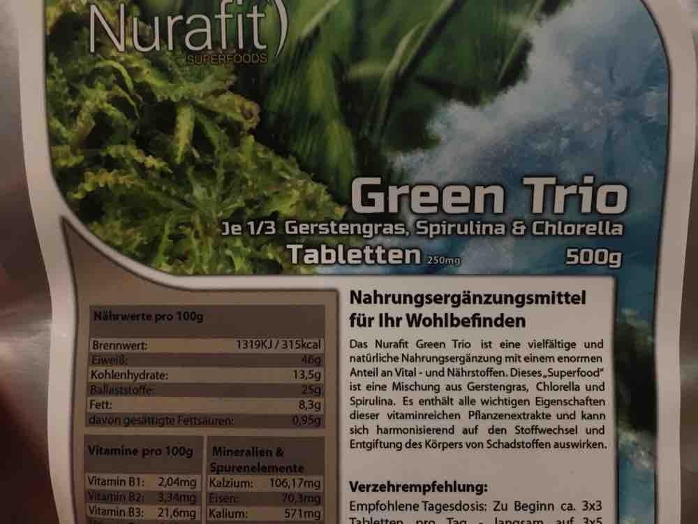 Green Trio Superfood, 1/3 Gerstengras Spirulina Chlorella von oldamsterdam | Hochgeladen von: oldamsterdam