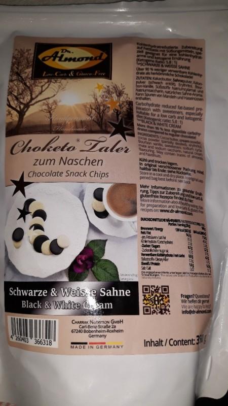 Choketo Taler, Schwarz & weiße Sahne von spatzel23273 | Hochgeladen von: spatzel23273