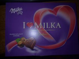 I love Milka Pralinés, Nuss-Nougat-Crème   Hochgeladen von: Jogobw