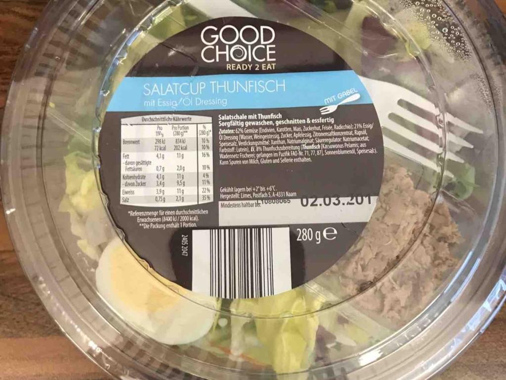Salatcup, Thunfisch mit Essig/Öl Dressing von david331 | Hochgeladen von: david331