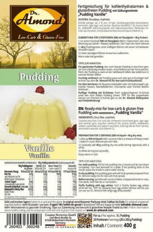 Dr Almond Low Carb Pudding, Vanille | Hochgeladen von: lillitraeumerin