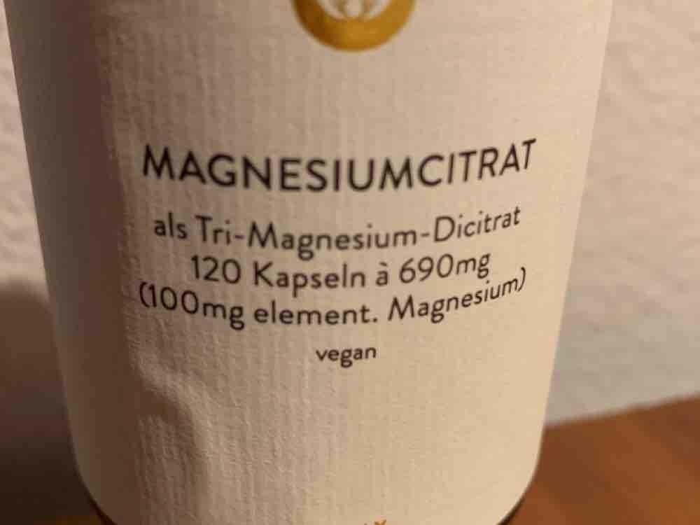 Magnesiumcitrat, als Tri-Magnesium-Dicitrat -100 mg element. Magn von PiaPumpernickel   Hochgeladen von: PiaPumpernickel