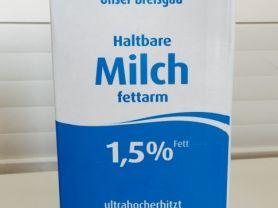 Haltbare Milch Unser Breisgau 1,5%, Milch | Hochgeladen von: iNutrition