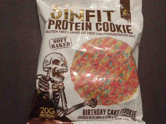 Sinfit Protein Cookie Birthday Cake Von Eva Schokolade