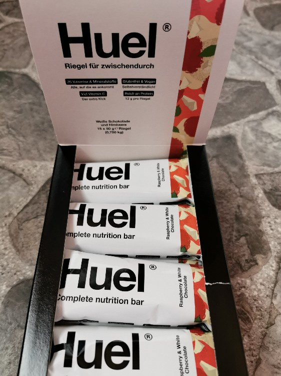 Huel Riegel complete nutrition bar, Raspberry & White Chocolate von krapfen | Hochgeladen von: krapfen