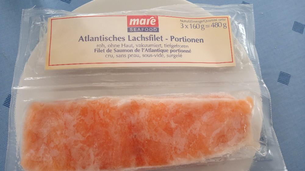 Atlantisches Lachsfilet - Portionen, roh, ohne Haut, vakuumiert, tiefgefroren von Hugo66 | Hochgeladen von: Hugo66