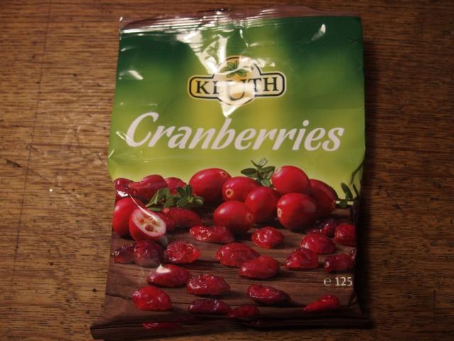 Cranberries, getrocknet, Hersteller Kluth   Hochgeladen von: arcticwolf