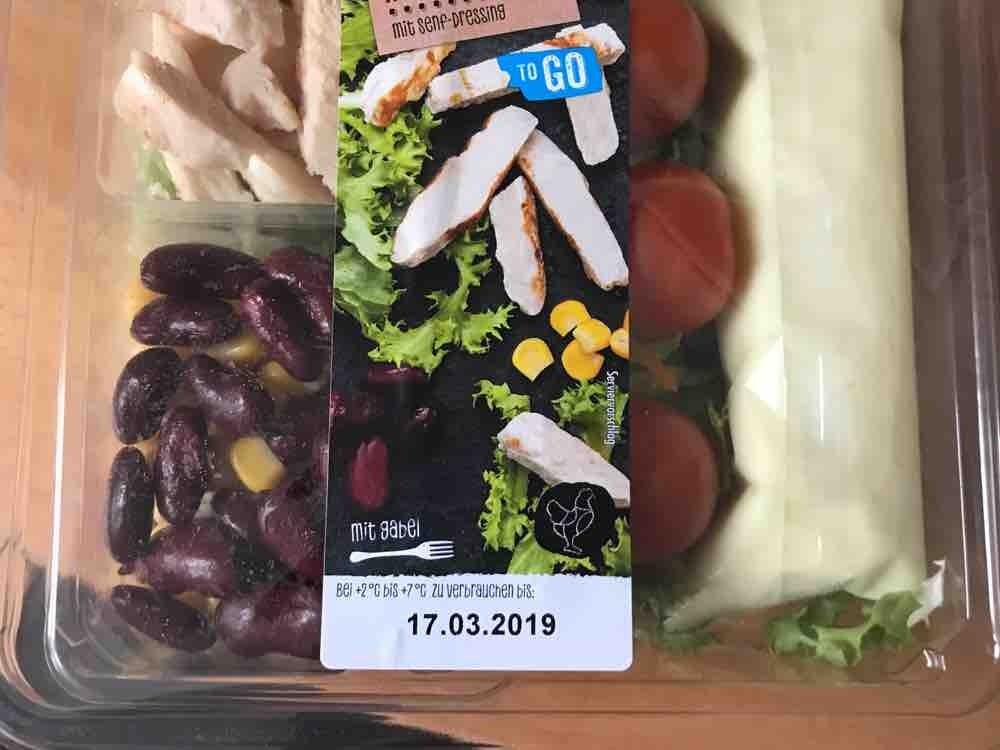 Penny to go Salat Box, Hähnchenbrust mit Senf-Dressing von ELippke   Hochgeladen von: ELippke