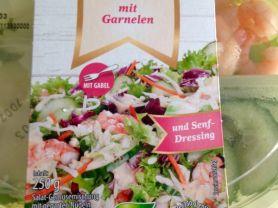 Salat Menü, mit Garnelen und Senf-Dressing | Hochgeladen von: kovi