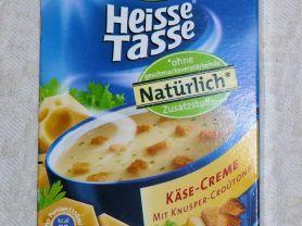 Heisse Tasse, Käse Creme mit Knusper-Croutons   Hochgeladen von: fotomiezekatze