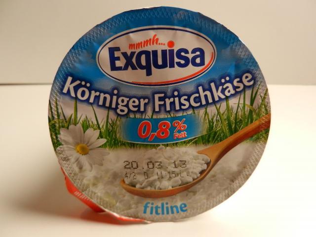 Körniger Frischkäse, Fitline 0,8% | Hochgeladen von: maeuseturm