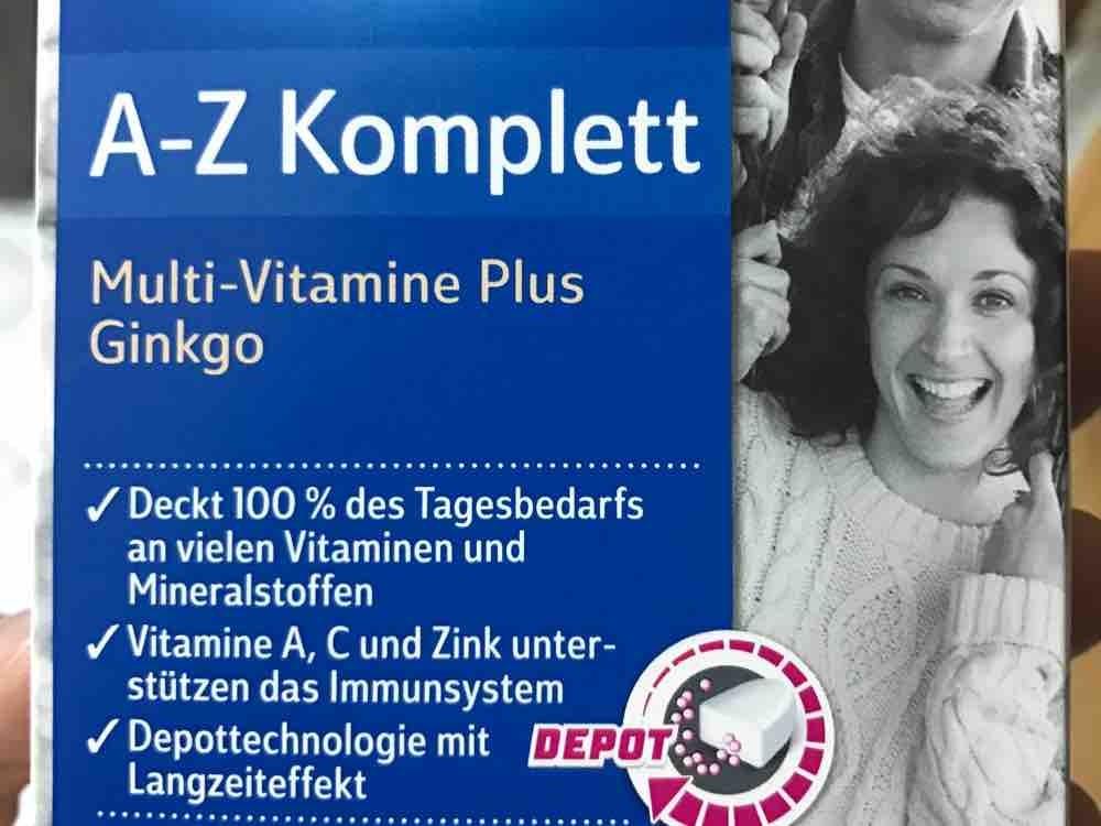 A-Z Komplett, Multi-Vitamine plus Gingko von eddy300 | Hochgeladen von: eddy300