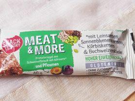 Meat & More, Proteinriegel aus gegartem Schweinefleisch    Hochgeladen von: meralinskaa