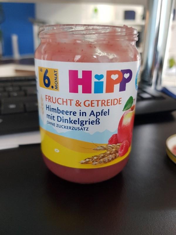 Frucht und Getreide, Himbeere in Apfel mit Dinkelgrie? von EunJi   Hochgeladen von: EunJi