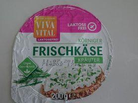 Vita Vital Körniger Frischkäse Kräuter laktosefrei, Kräuter   Hochgeladen von: feTch