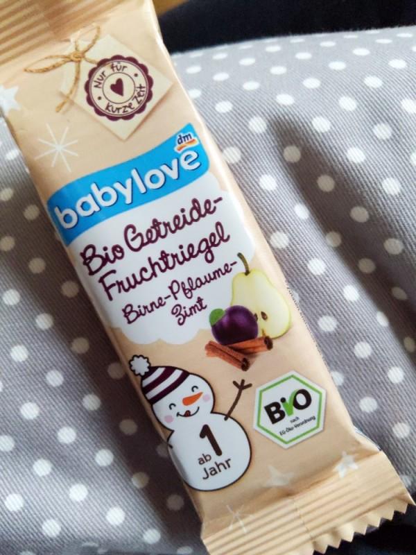 Babylove  Bio Getreide-Fruchtriegel Birnen-Pflaume-Zimt von Burghausen   Hochgeladen von: Burghausen