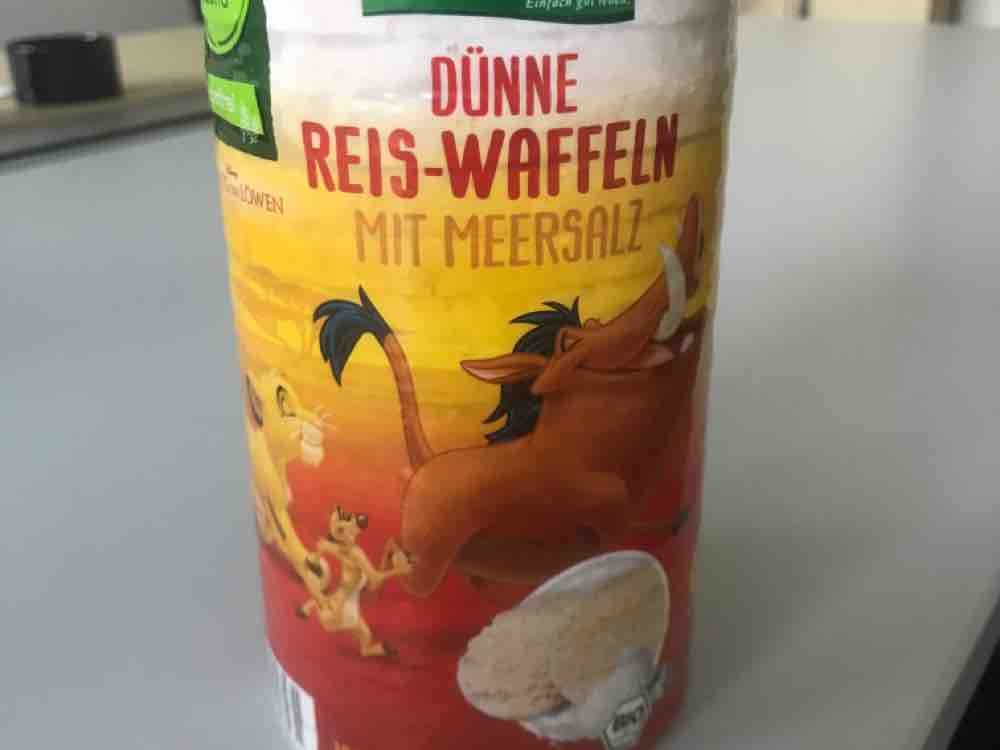 Reis Waffeln mit Meersalz, 1,6g Fett by funzel | Uploaded by: funzel